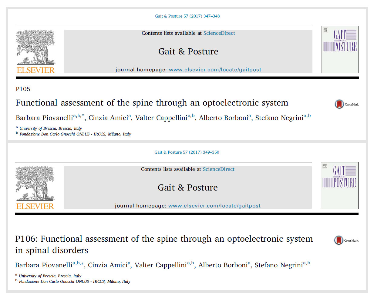 New Studies On Functional Evaluation Of The Spine With Bts At Esmac